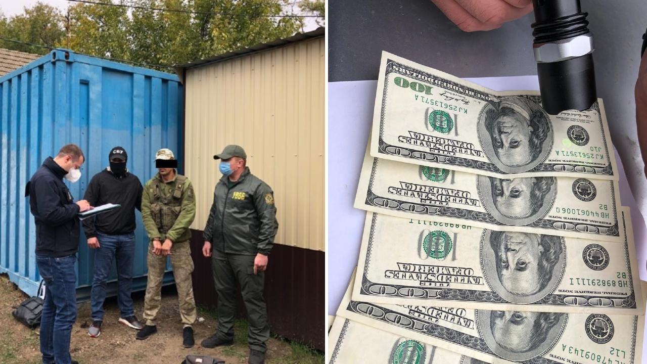 Пограничника из «Староказачьего» задержали на получении тысячи «баксов» взятки (фото) «фото»
