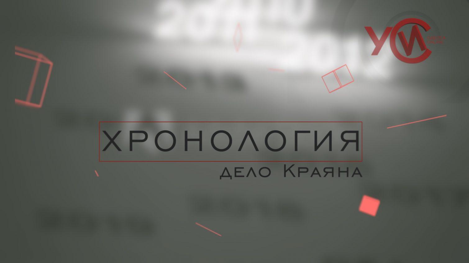 Хронология: дело «Краяна» (прямой эфир) «фото»