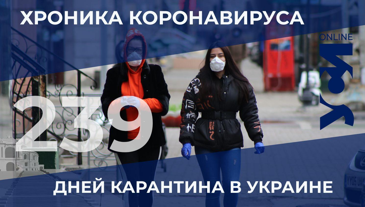 На 239-й день карантина в Одессе за 550 заболевших в сутки «фото»