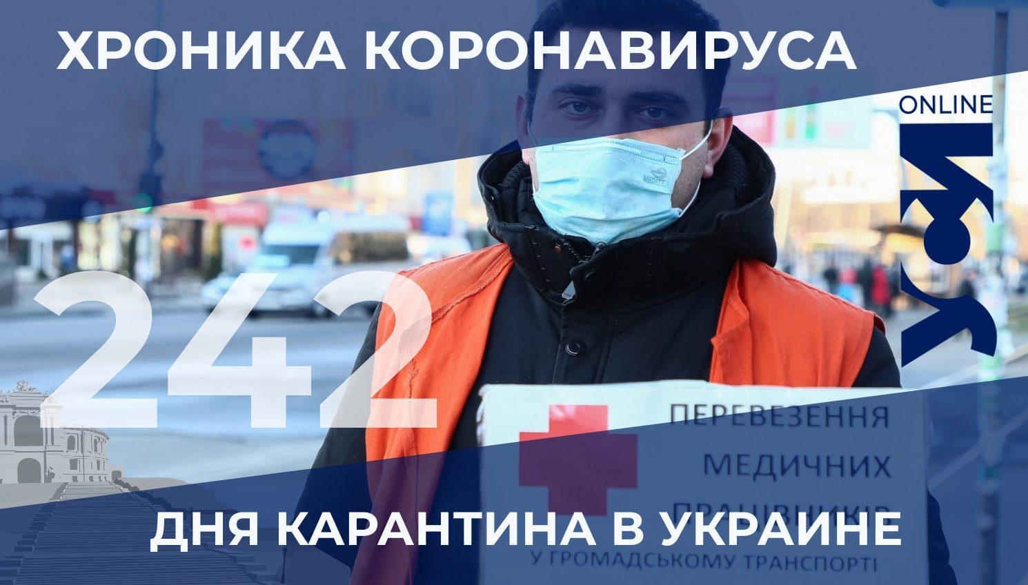 Хроника коронавируса: 242-й день карантина в Украине «фото»