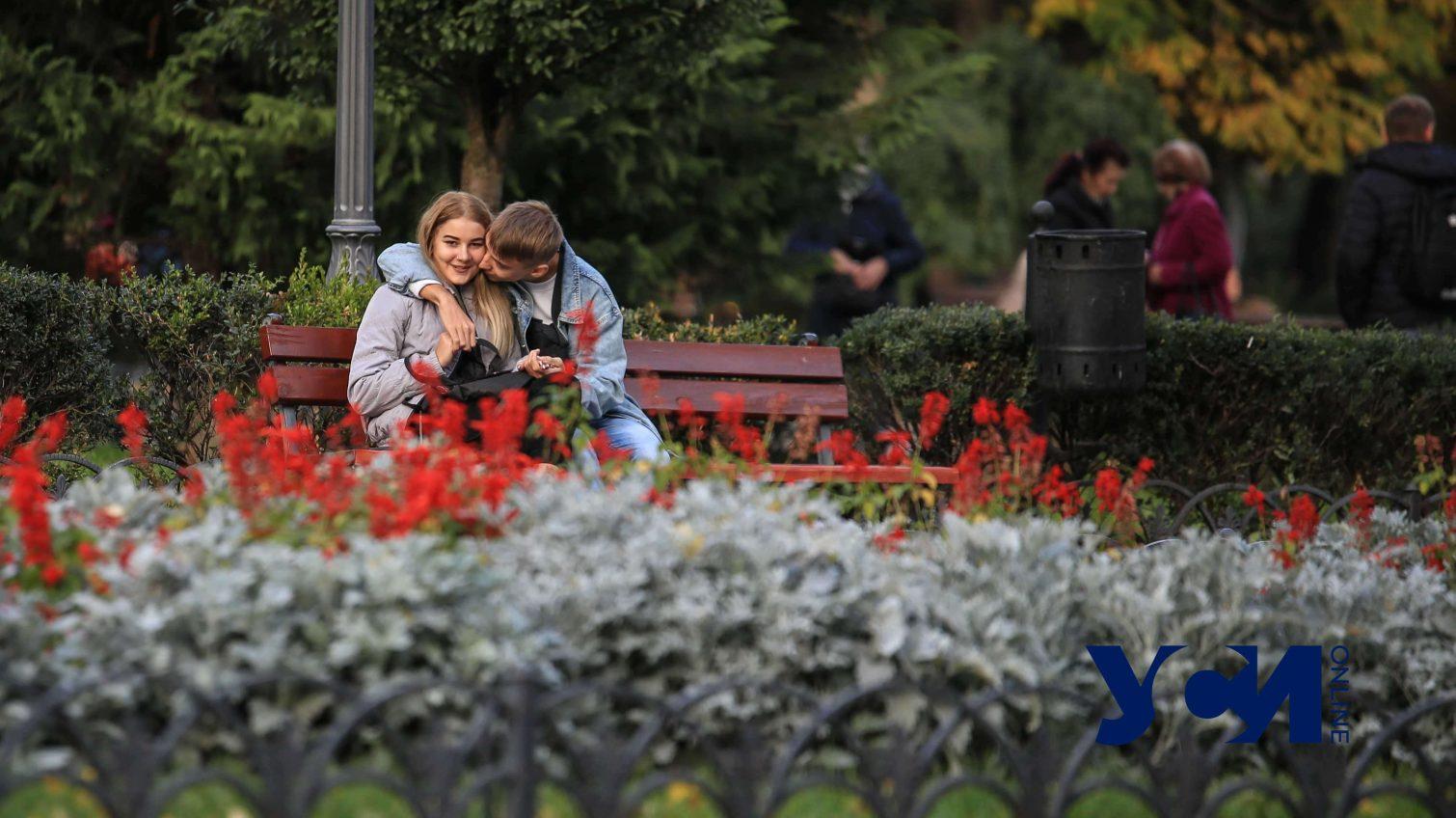 Люди, кофе, фонари: осенний центр Одессы в сумерках (фото) «фото»