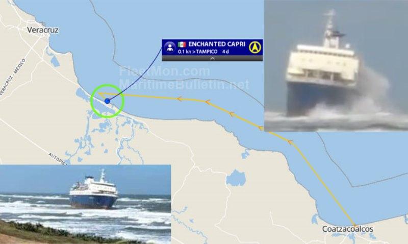 Бывший одесский лайнер сел на мель в Мексике (фото) «фото»