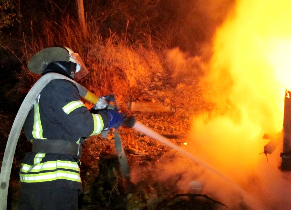 В Черноморке горели курени (фото) «фото»