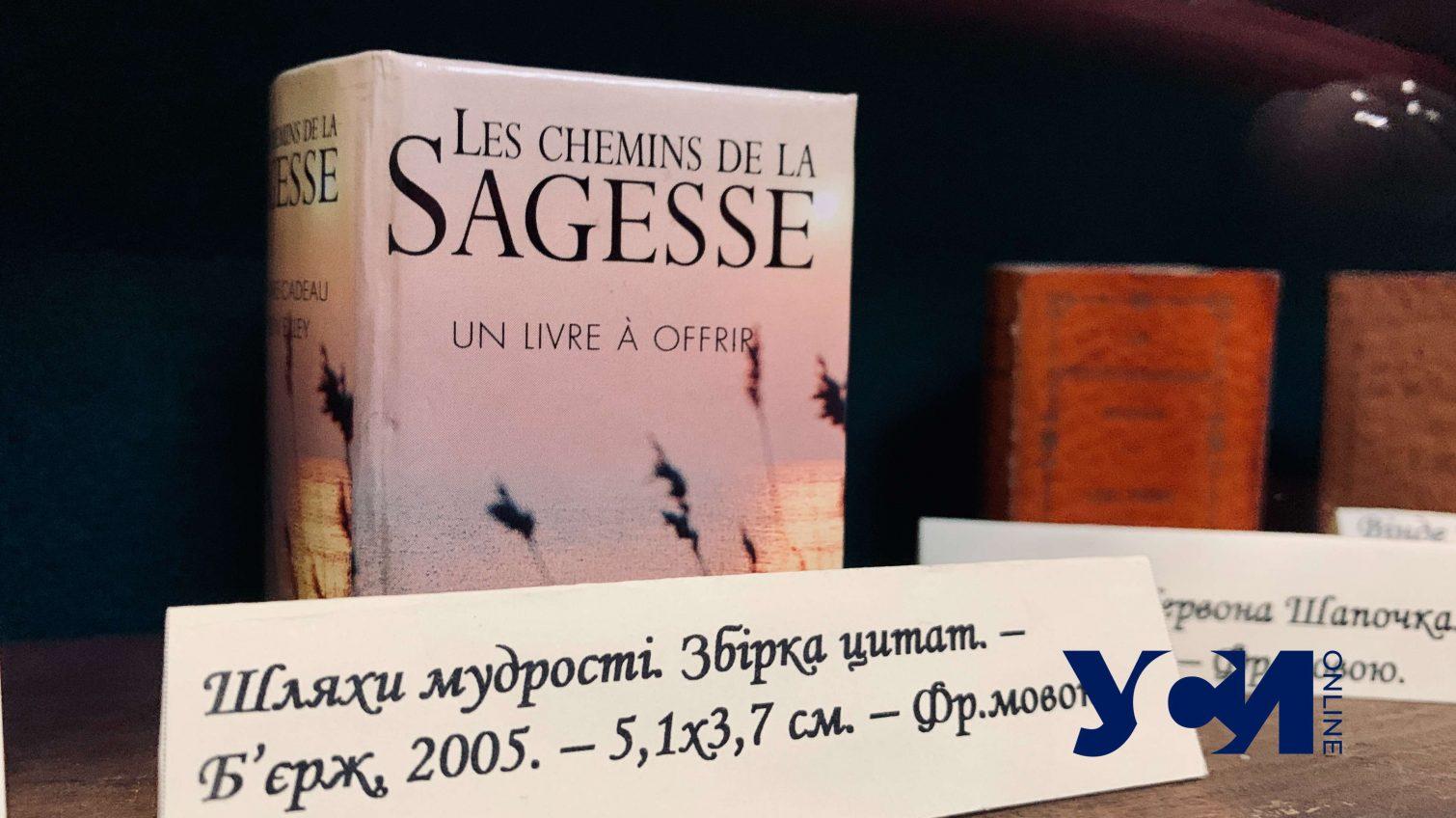 Сборники стихов, Пушкин и словари: в Одессе показали коллекцию миниатюрных книг (фото, аудио) «фото»