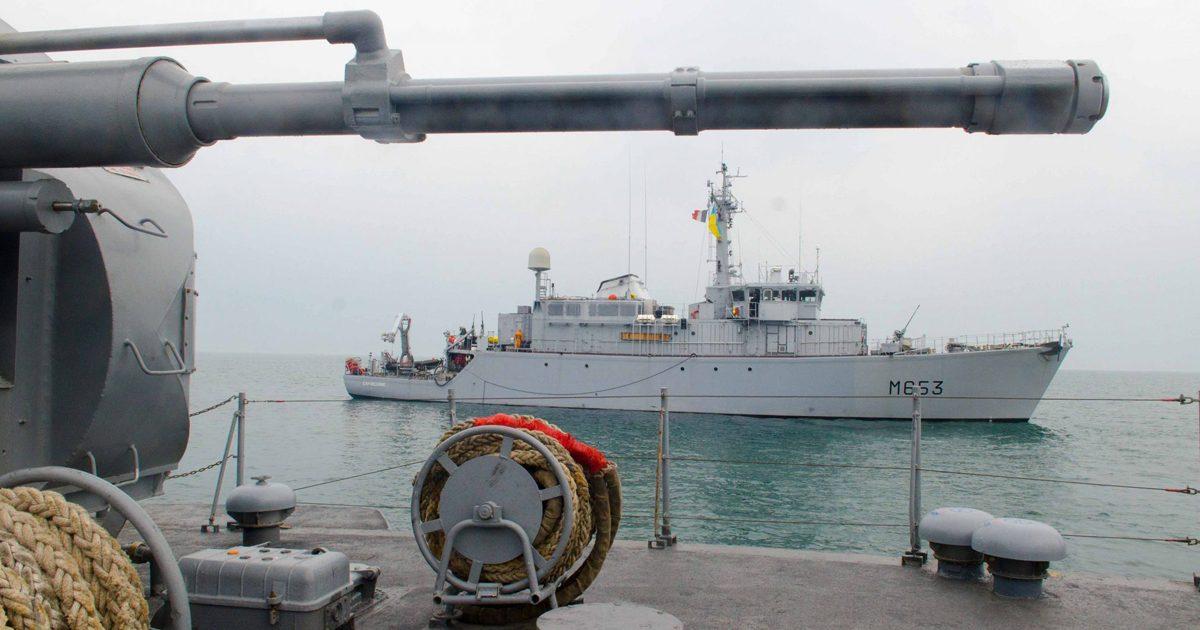 В Черном море украинские корабли тренировались вместе с натовскими «фото»