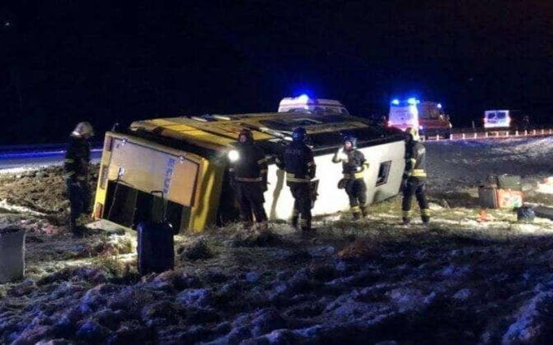 В Одесской области перевернулся рейсовый автобус (видео) «фото»