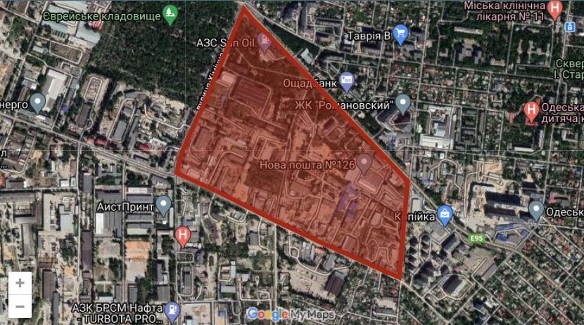 Одесская мэрия планирует отдать под застройку крупный участок на Слободке (карта) «фото»
