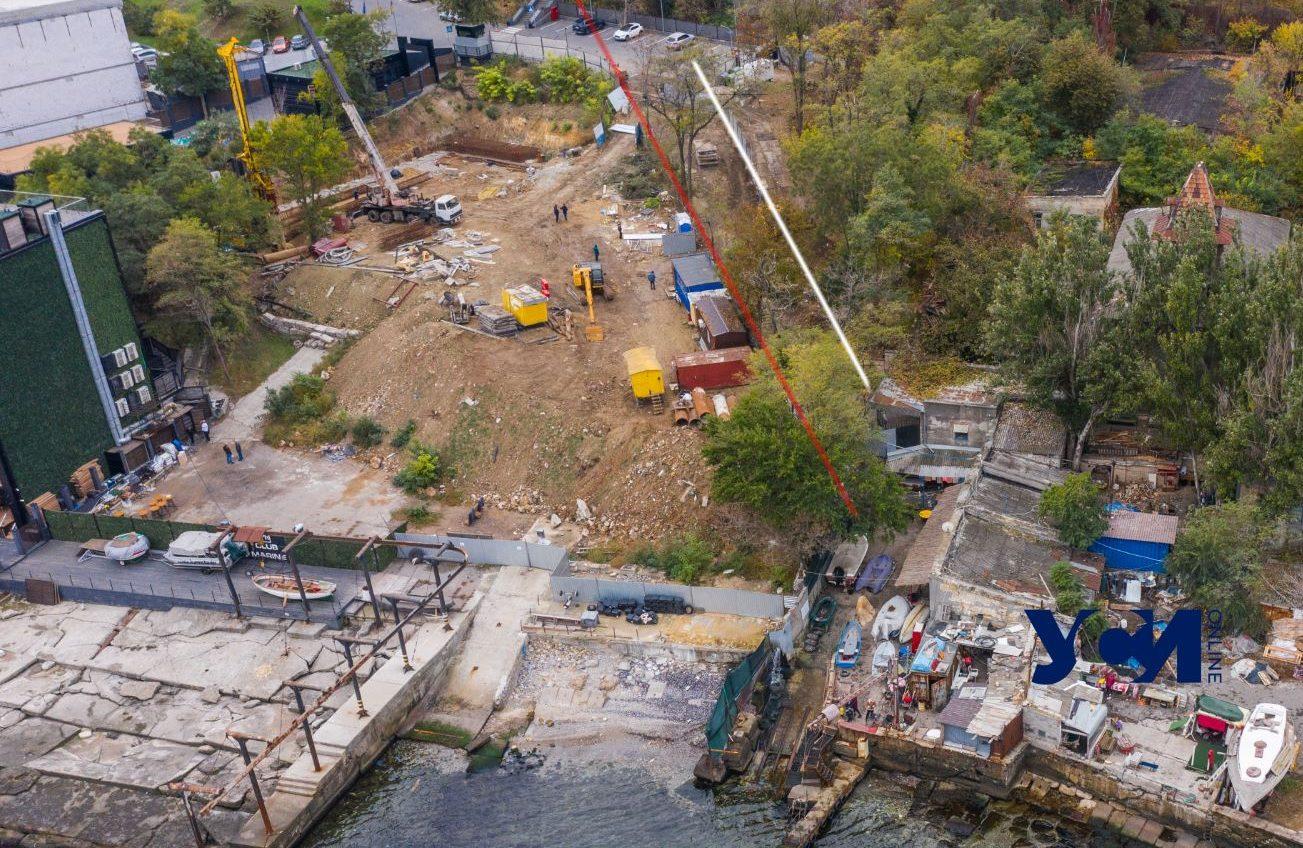 На Ланжероне переносят забор у стройки нового «оздоровительного комплекса» (фото) «фото»