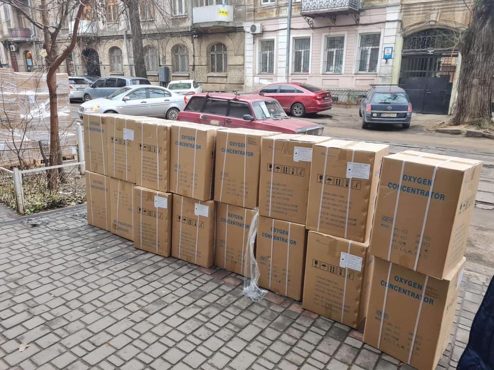 Одесские волонтеры получили 60 новых кислородных концентраторов (фото) «фото»