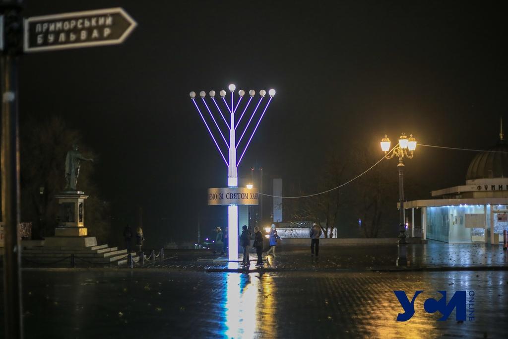 У Дюка зажгли первую «свечу» ханукии: одесские евреи отмечают праздник (фото) «фото»