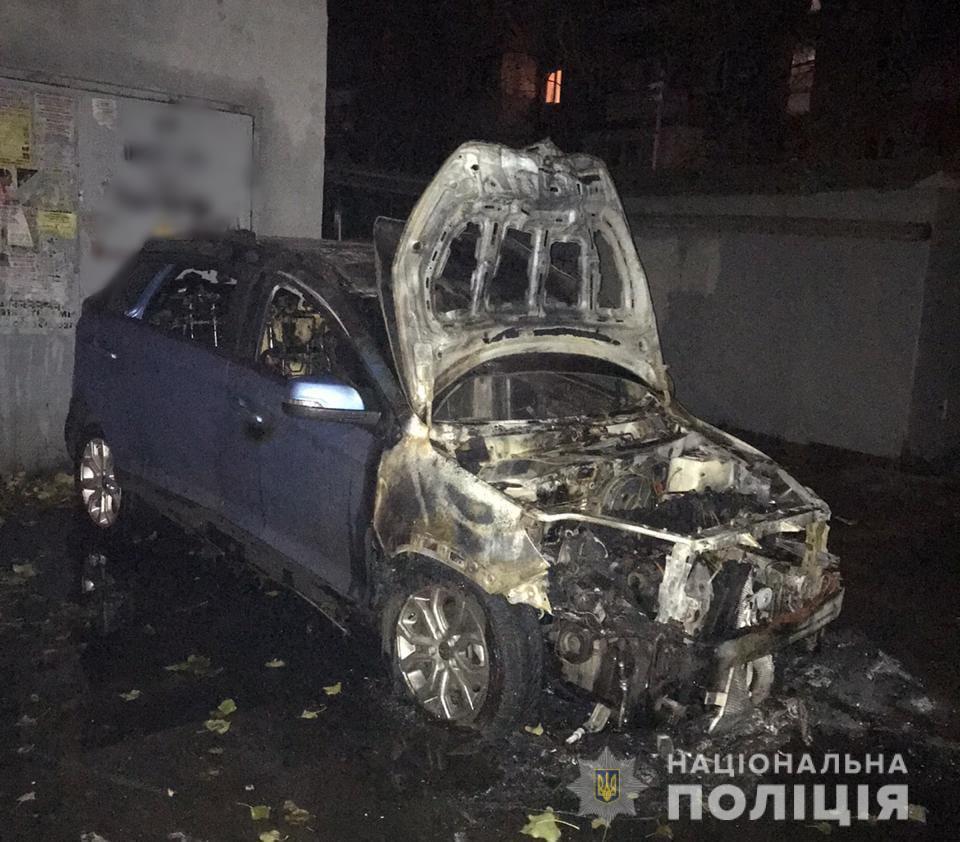 На Сегедской одесситке подожгли автомобиль (фото) «фото»