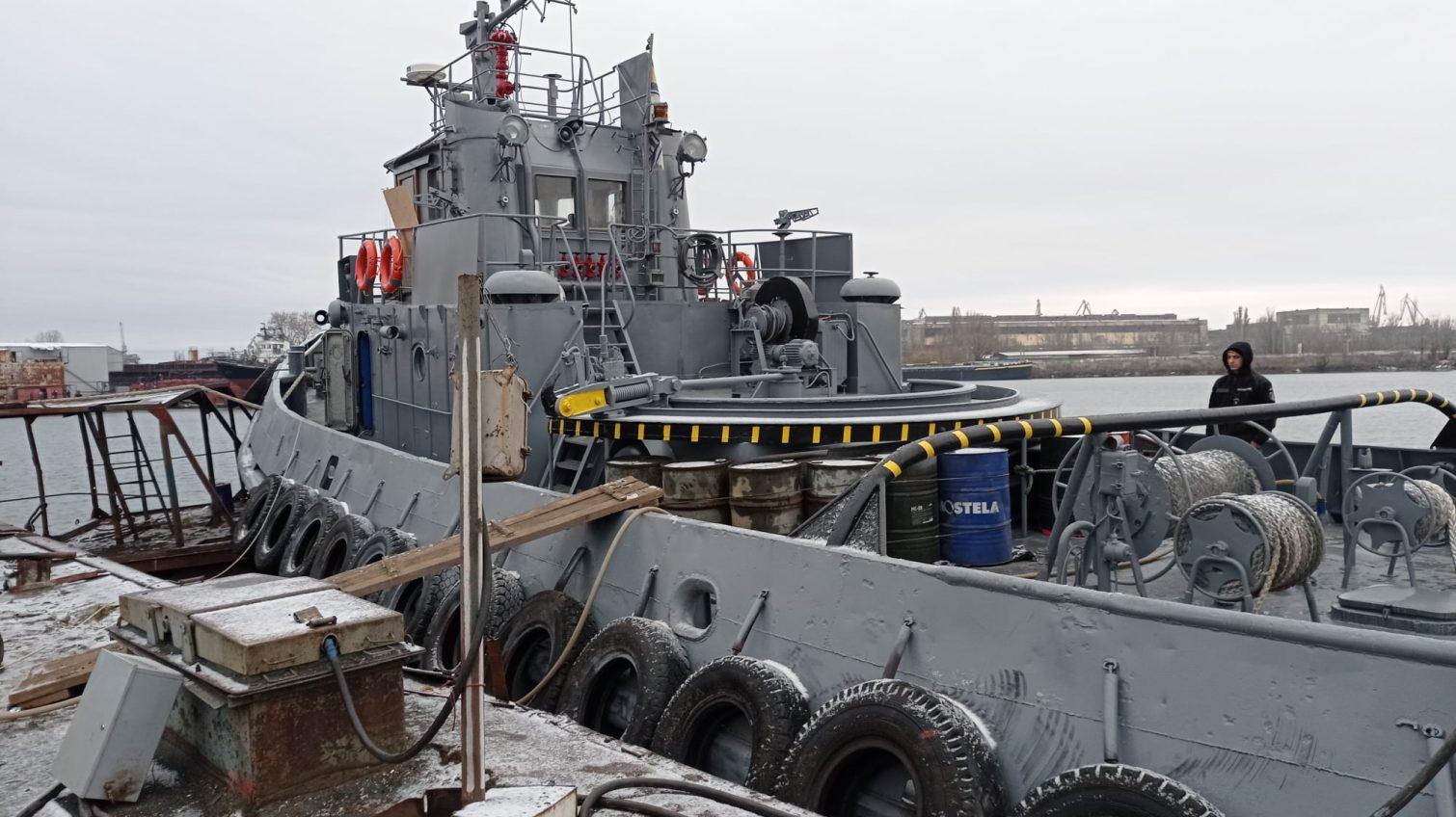 Буксир «Яны Капу», вернувшийся из плена РФ, прошел доковый ремонт (фото) «фото»