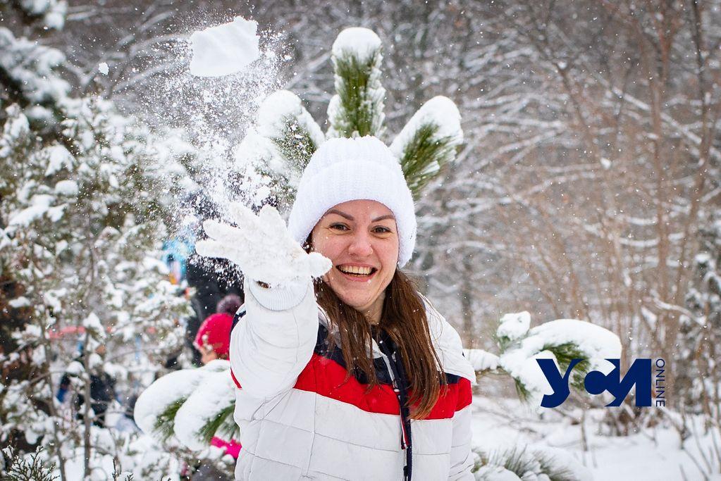 Локдаун счастью не мешает: как одесситы отдыхали снежным днем (фото, видео) «фото»
