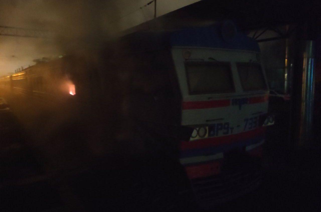 В Одесской области загорелся вагон электропоезда (фото) «фото»
