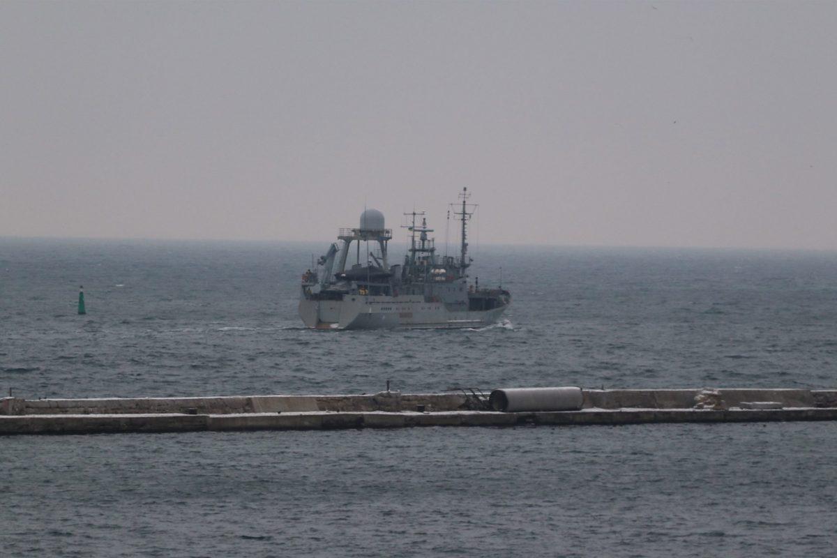 В Черном море проходит испытание новый корабль-разведчик ВМС «фото»