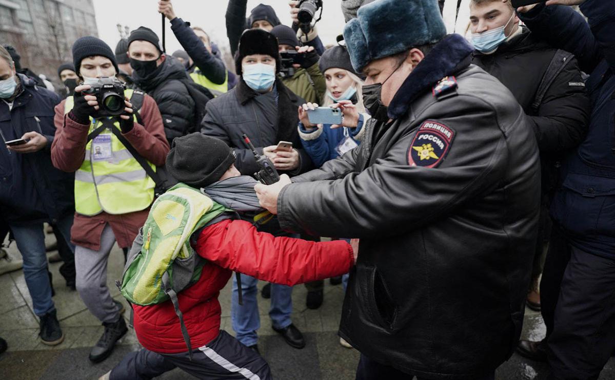 Во время масштабных акции в РФ задержаны сотни людей, в том числе, и жена Навального (фото, видео) «фото»