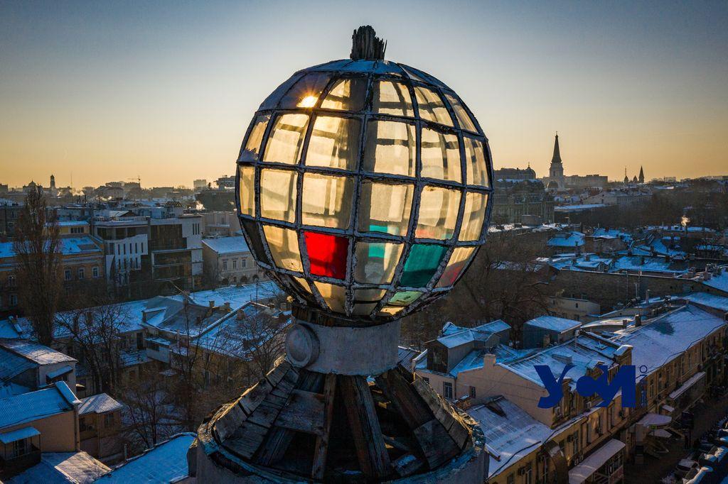 Одесса перед закатом в яркий морозный день  (фото) «фото»
