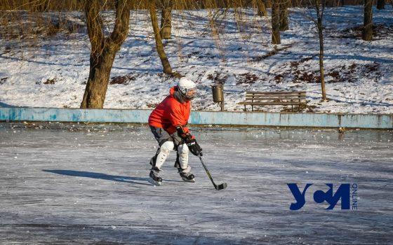 В парке Победы замерз пруд: одесситы устроили катания (фото) «фото»