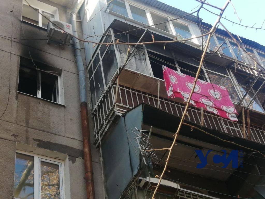 На Черемушках во время пожара пострадала женщина (фото) Обновлено «фото»