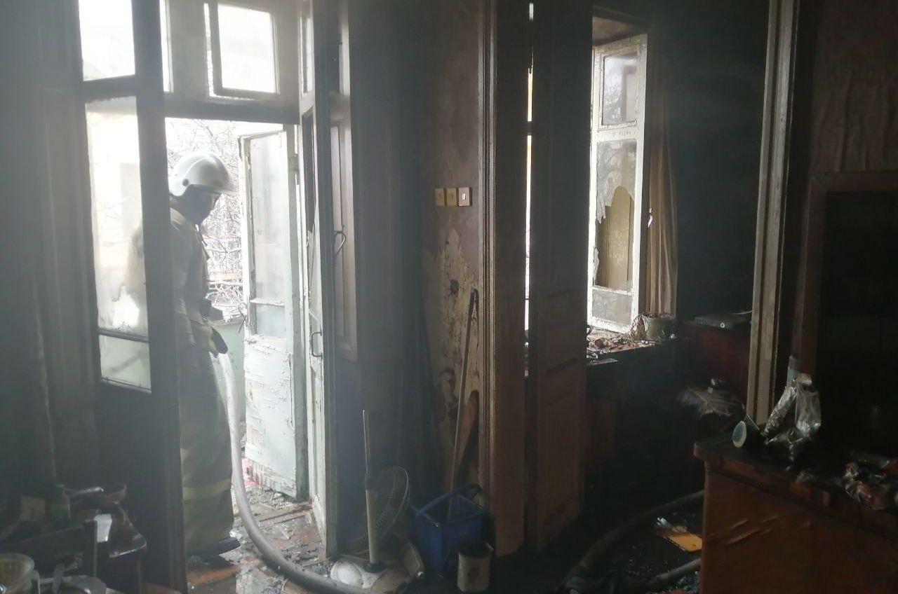 Пожар в центре: есть пострадавший (фото) «фото»