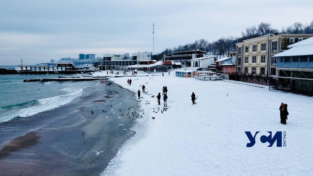Зимние забавы на пляже Ланжерон (фото, видео) «фото»