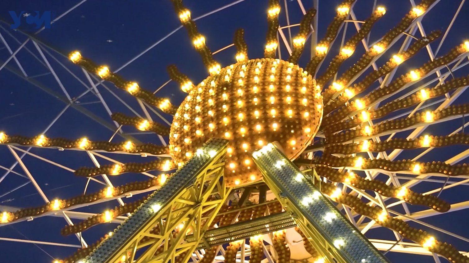 Новогодняя сказка: как выглядит Одесса в сиянии праздничных огней (видео) «фото»