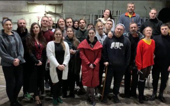 День Соборности в Одессе: артисты театра и патриоты поздравили горожан с праздником  (видео) «фото»