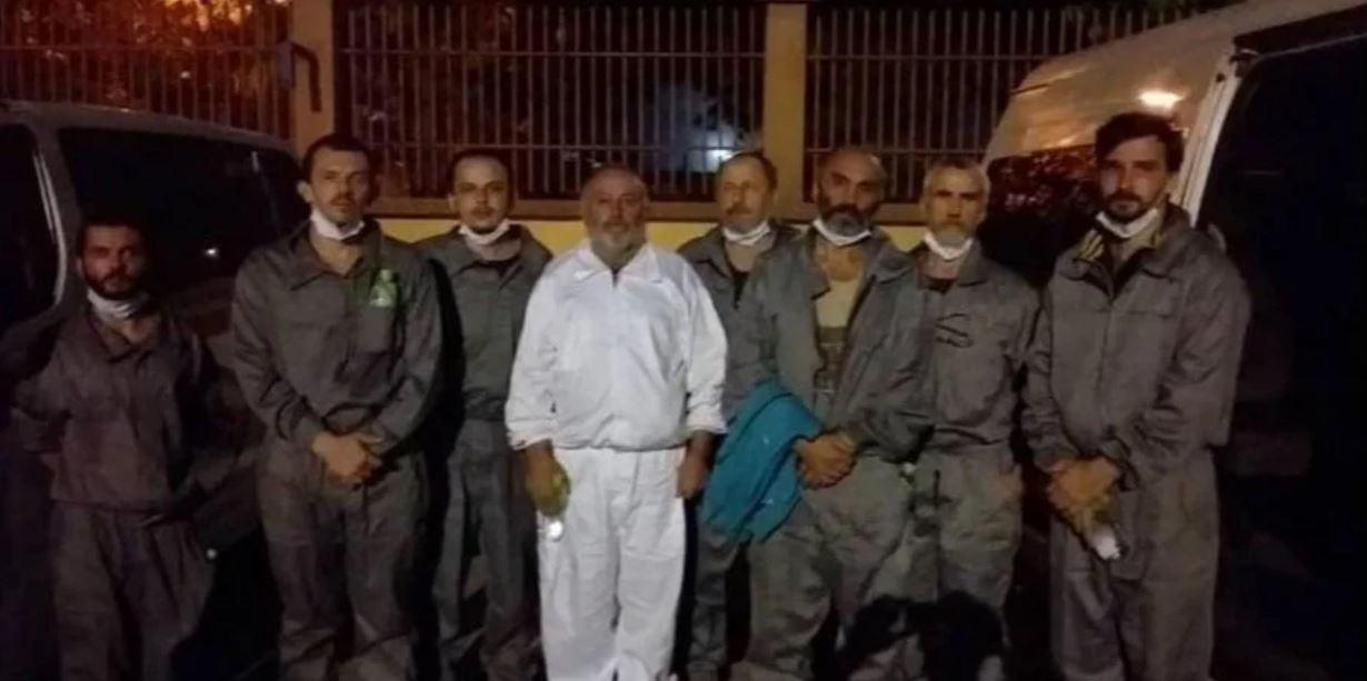 Украинских моряков освободили из плена «фото»