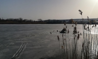 В Одесской области мужчина провалился под лед очистных (фото) «фото»