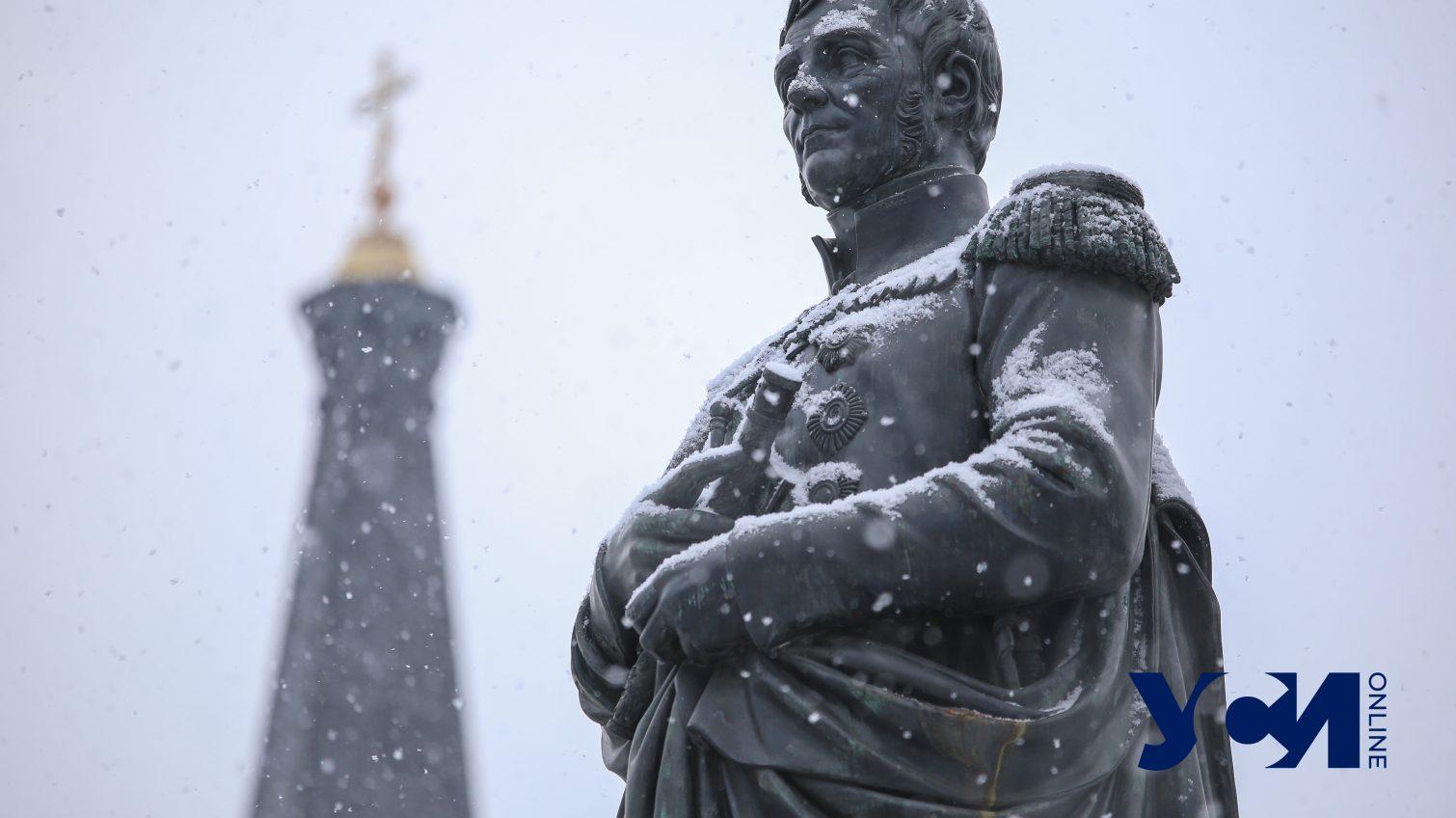 В Одессе снова пошел снег: как выглядят городские улицы (фото) «фото»
