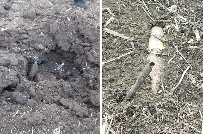 На границе с Молдовой нашли бомбу времен Второй мировой войны  (фото) «фото»