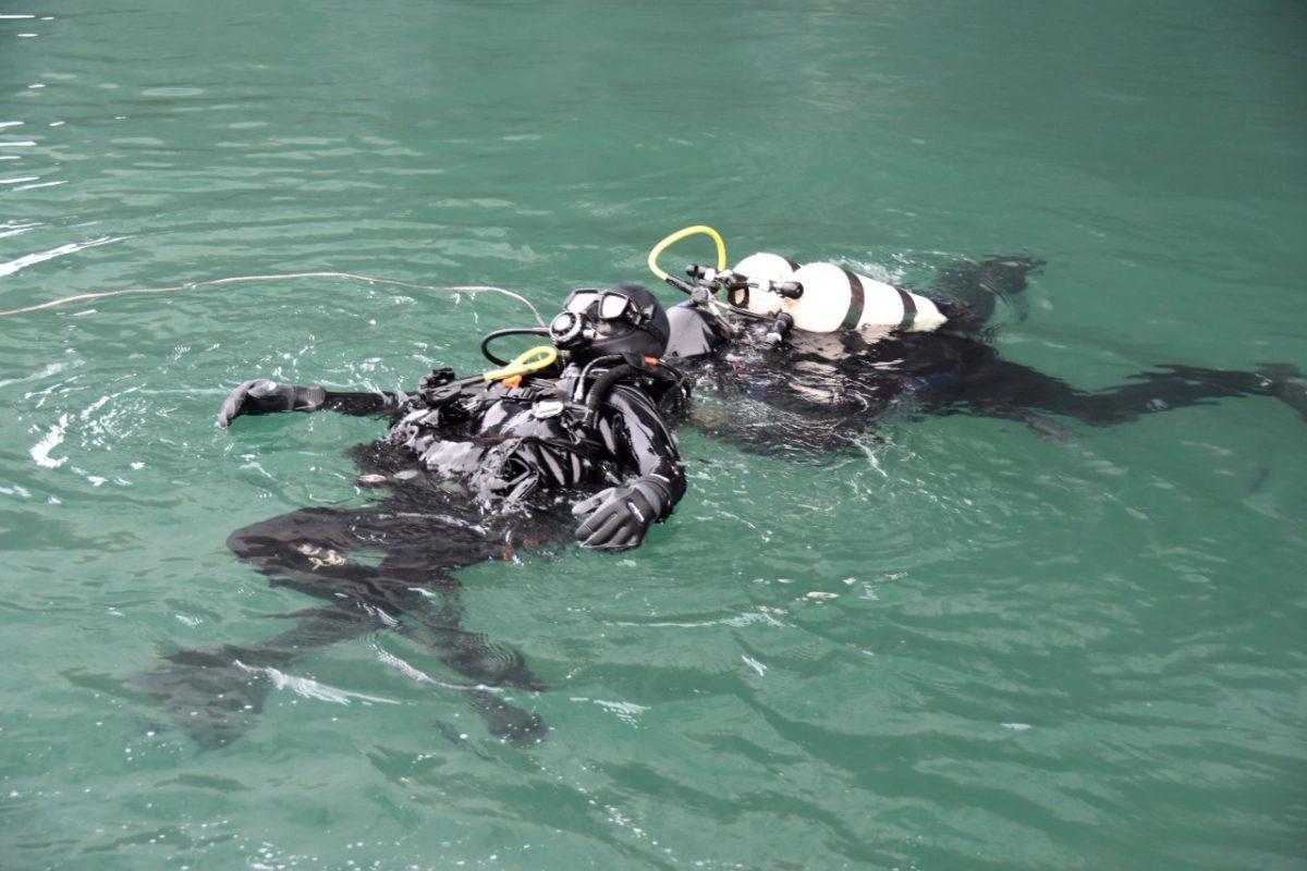 В 10 метрах под водой: водолазы провели учения в гавани Одессы (фото) «фото»
