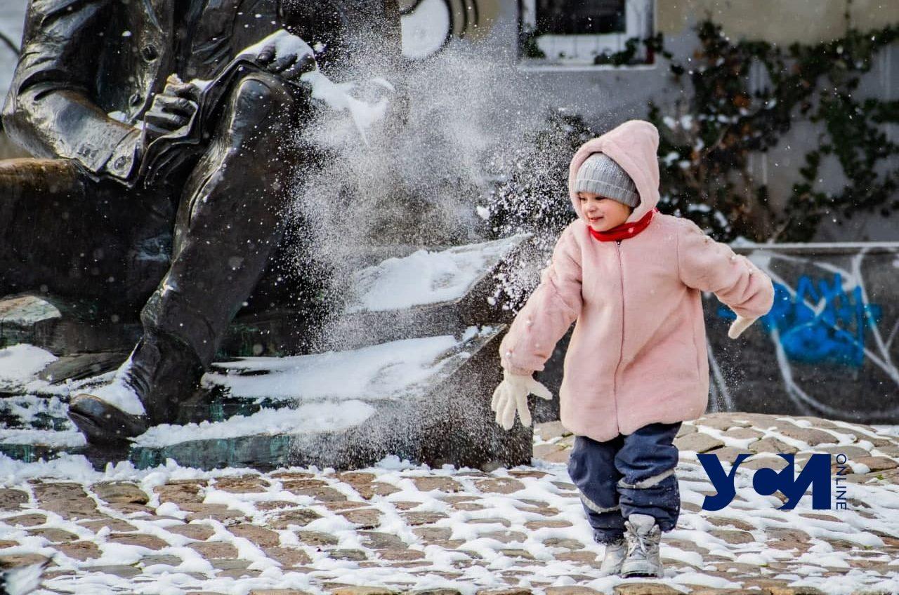 Живая Одесса под снегом: после февральской метели (фото) «фото»