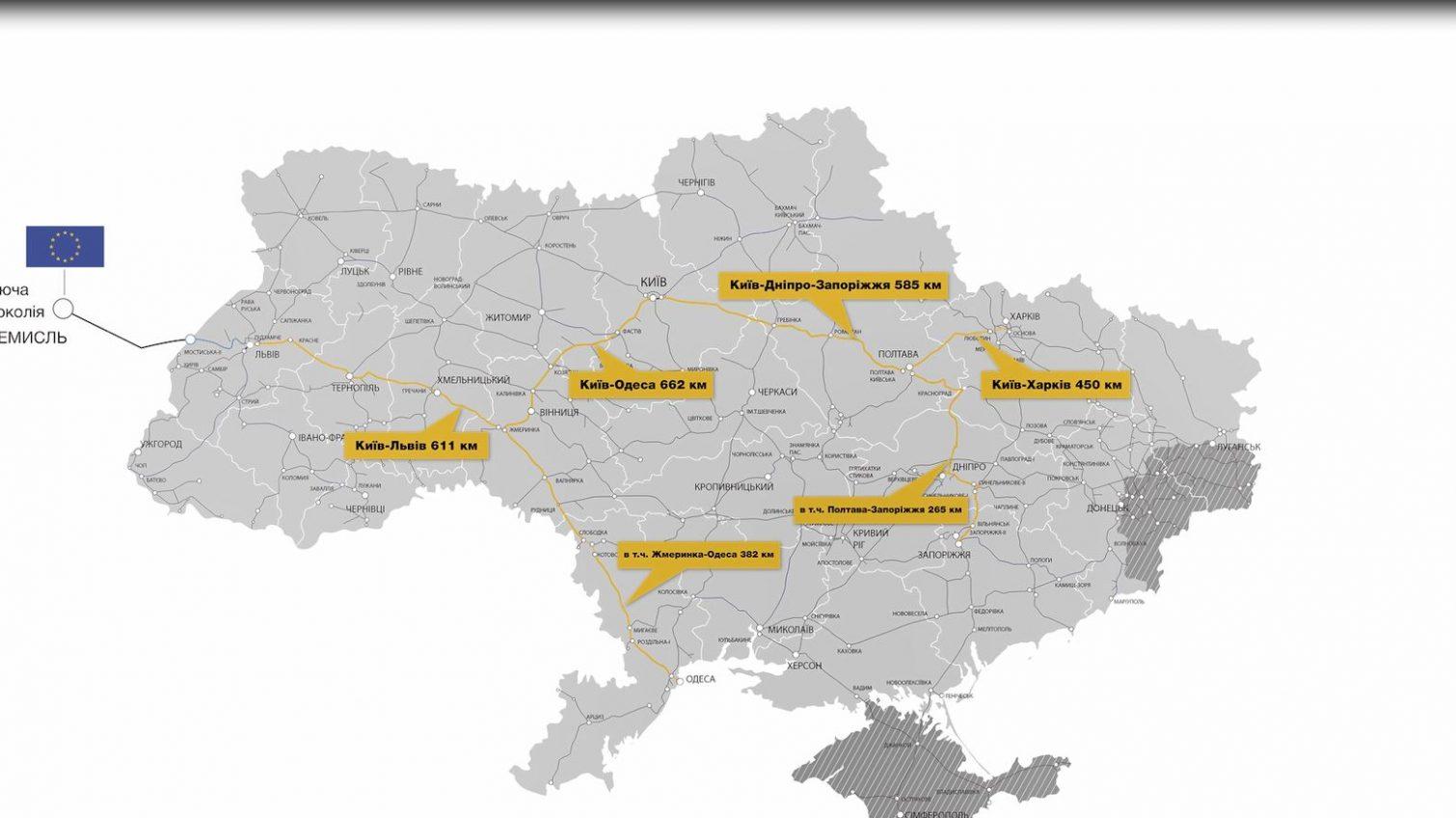 К 2030 году одесситам обещают высокоскоростной поезд в Киев «фото»
