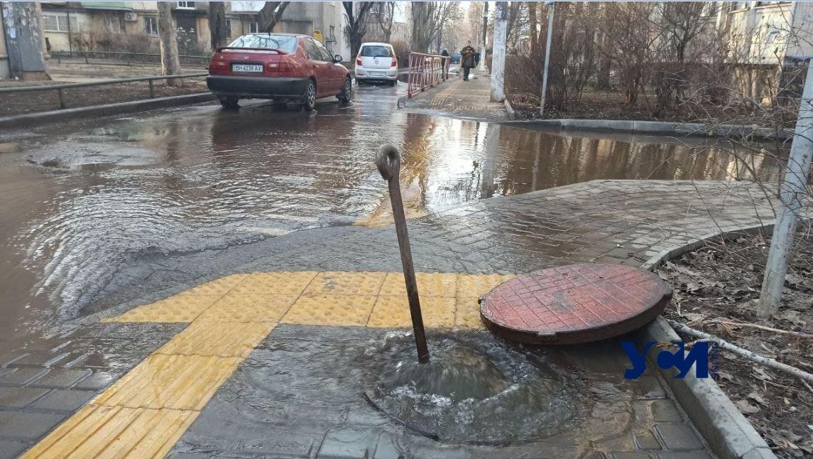 Из-за потопа на Варненской жилые дома остались без воды (фото, видео) «фото»