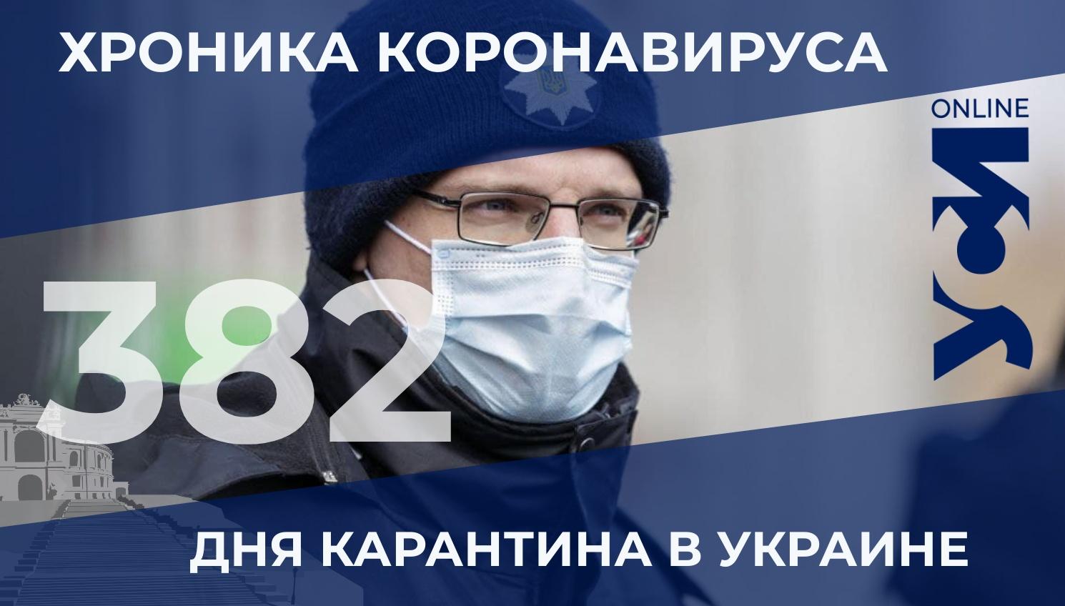 Хроника COVID-19: в Одесской области 565 новых заболевших «фото»