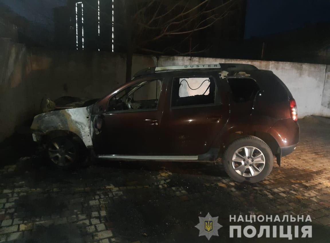 В Крыжановке сожгли машину активисту (фото) «фото»