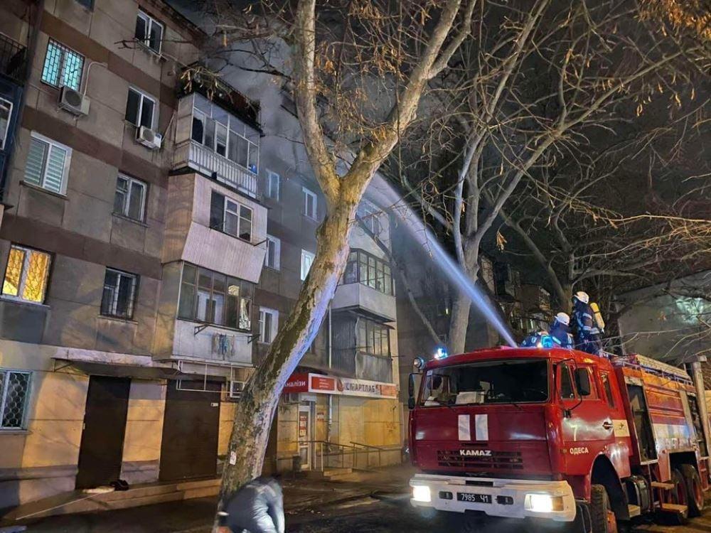 На Сегедской загорелась квартира (фото, видео) «фото»