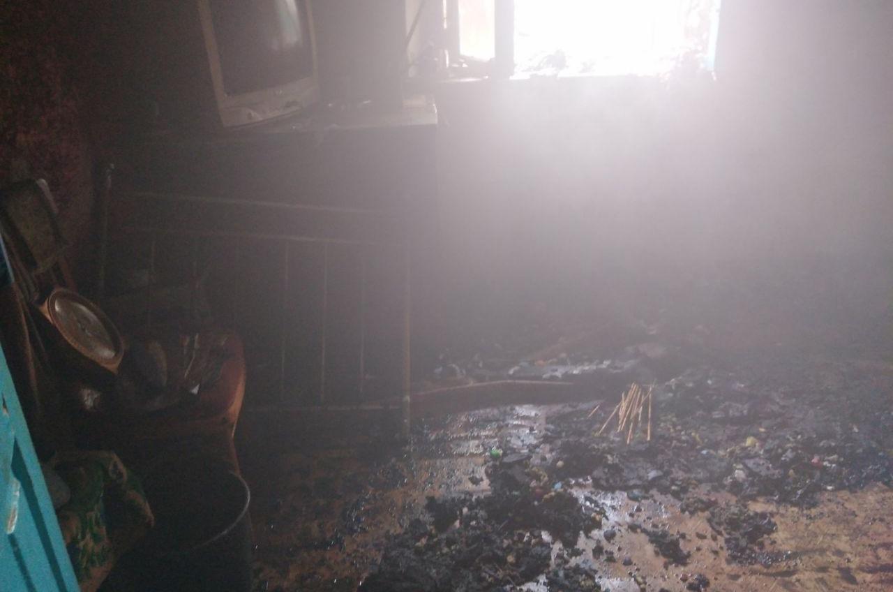 В Саврани пенсионер погиб во время пожара «фото»