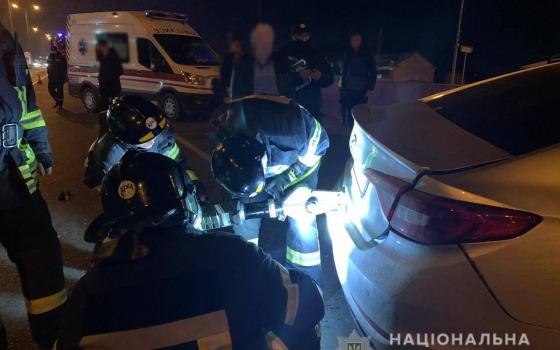 Смертельное ДТП у Дачного: автомобиль врезался в патрульную машину (фото, видео) «фото»