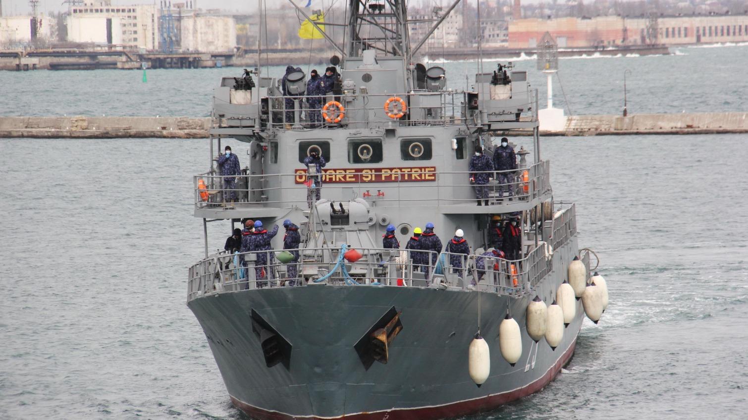 На одесском морвокзале пришвартовались 4 корабля НАТО (фото) «фото»