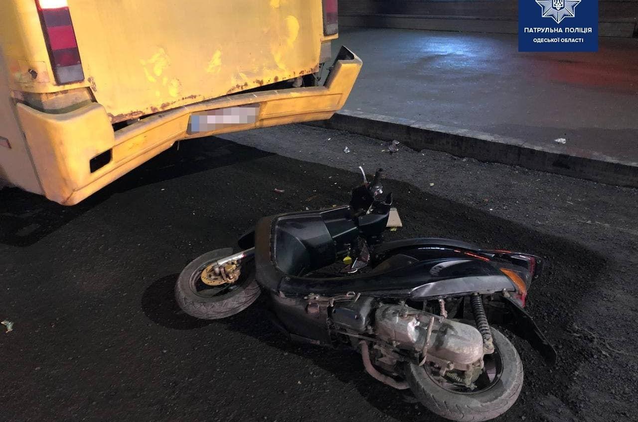 В Малиновском районе несовершеннолетний водитель мопеда попал в больницу (фото) «фото»