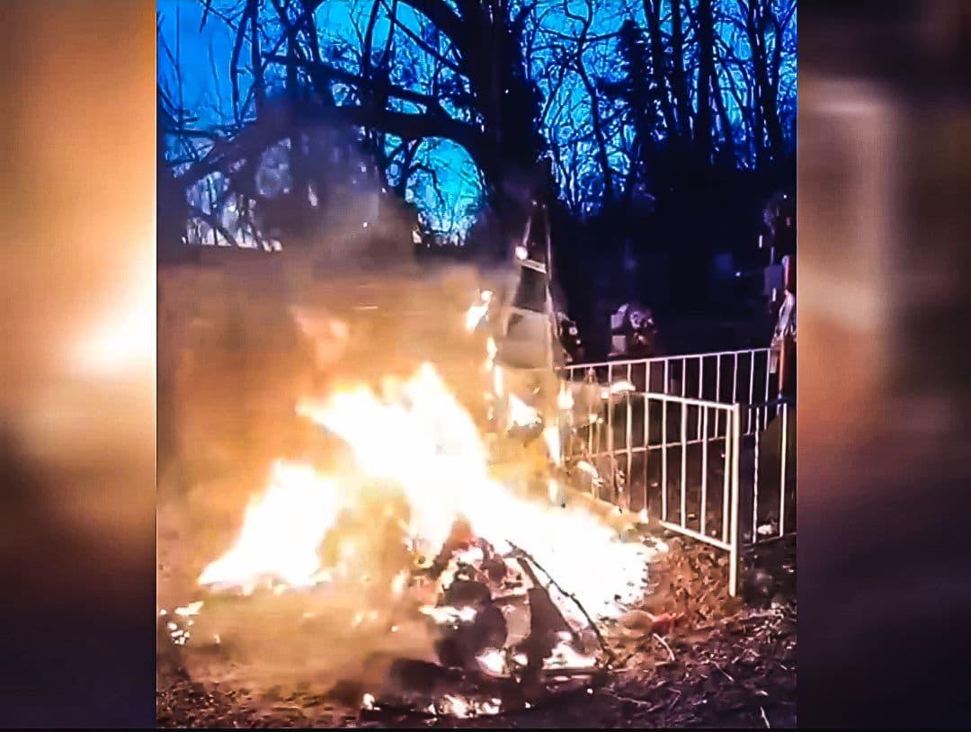 На одесском кладбище подожгли могилу (видео) «фото»