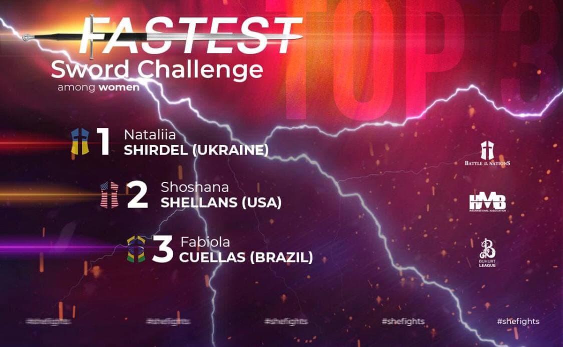 Одесситка стала самым быстрым мечом в мире (фото, видео) «фото»