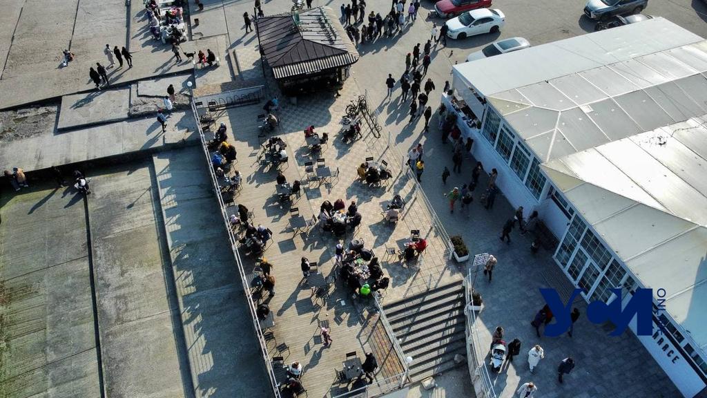 Пляж в «красной зоне»: весенний Ланжерон с высоты птичьего полета (фото) «фото»