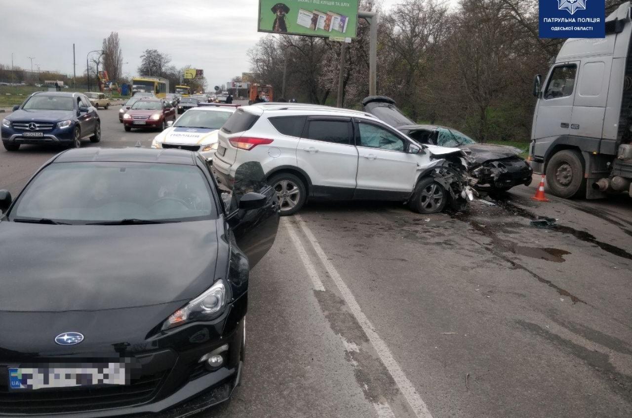 Возле 7 километра столкнулись четыре машины (фото) «фото»