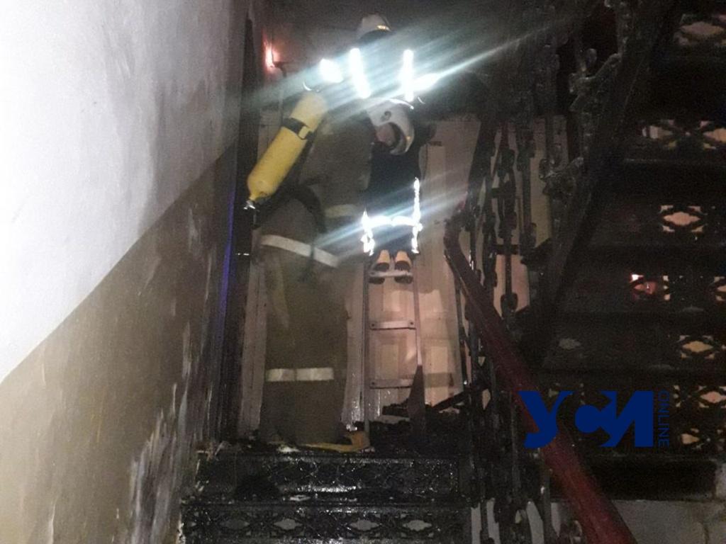 В центре Одессы из-за пожара эвакуировали людей «фото»
