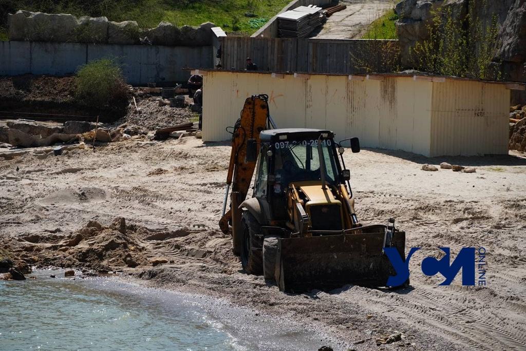 На пляже Лагуна ведут строительные работы (фото, аудио) «фото»