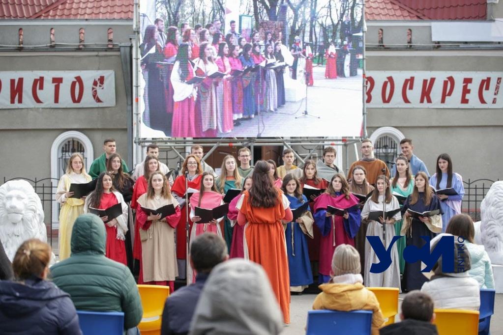 Одесские реконструкторы показали свою версию «Распятия Христа» на экране авто-кинотеатра (фото, аудио) «фото»