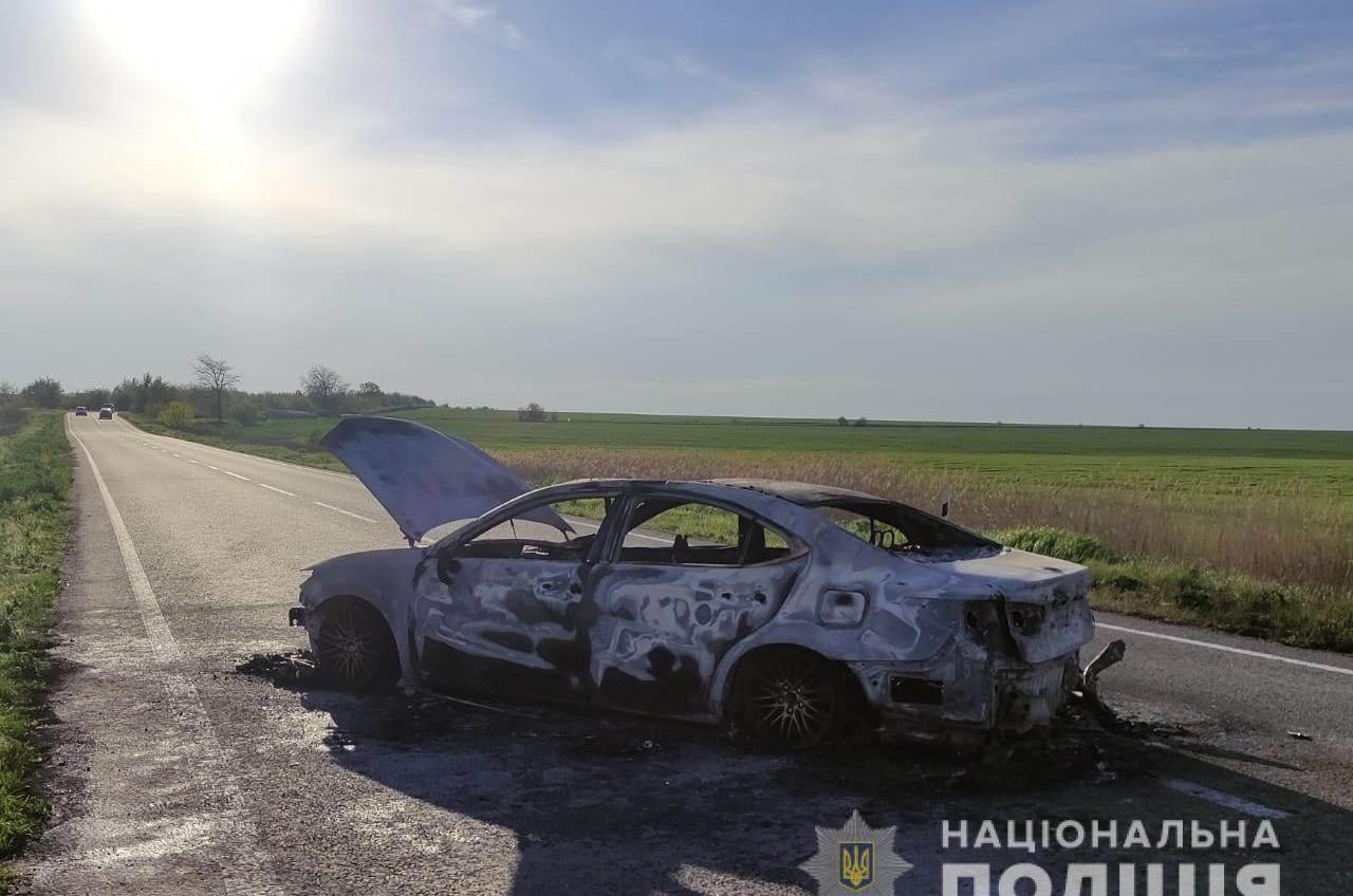 ДТП в Одесской области: машина сгорела, женщина в больнице (фото) «фото»
